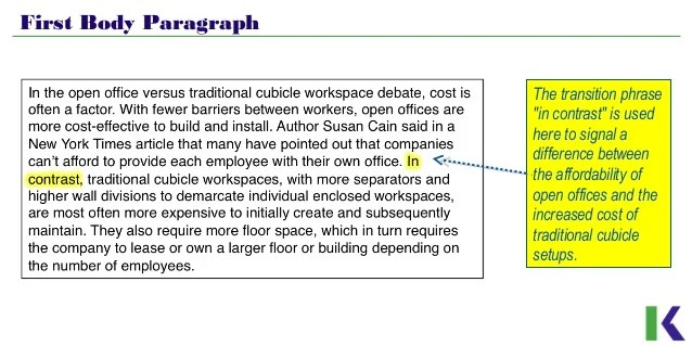 Analyzing Compare and Contrast Essays  Workspace Design