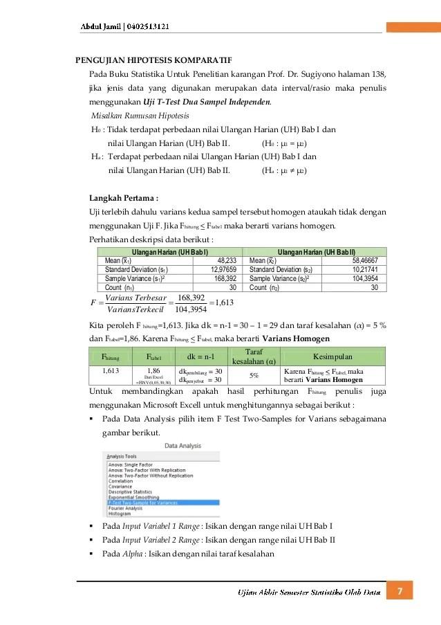 06/08/2021· contoh soal statiska serta jawaban nya. Uas Statistika