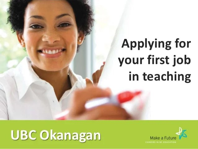 Applying For Your First Job In Teaching  Ubc Okanagan