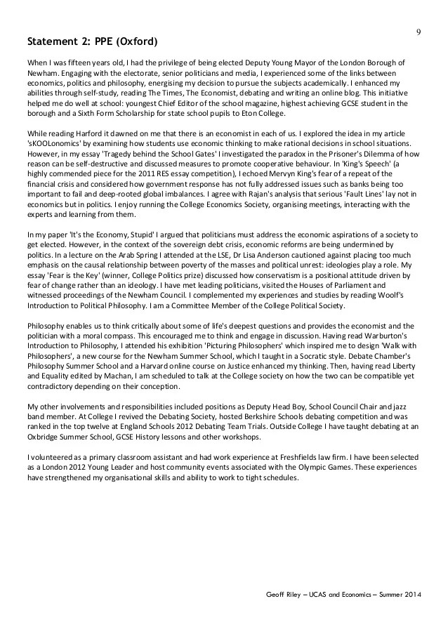 Geoff Riley UCAS Economics Guide June 2014