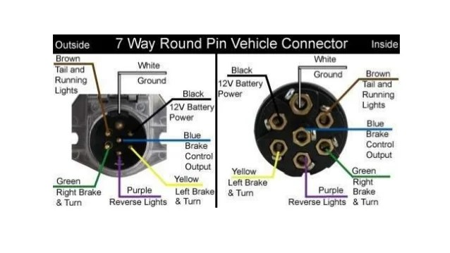 trailer plug wiring diagram 7 way flat pigeon dissection semi truck diagramimages of