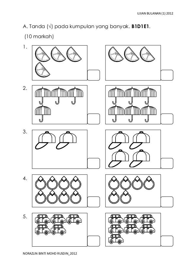 Soalan Matematik Tahun 2 Pksr 1 Persoalan O Cute766