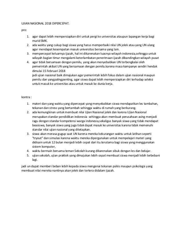 Contoh Teks Debat Beserta Strukturnya : contoh, debat, beserta, strukturnya, Contoh, Debat, Ujian, Nasional, Dipercepat