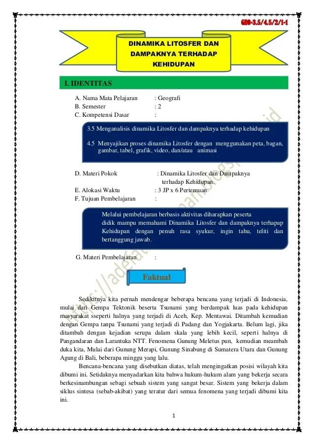 Soal Geografi Kelas X Materi Litosfer Ilmusosial Id