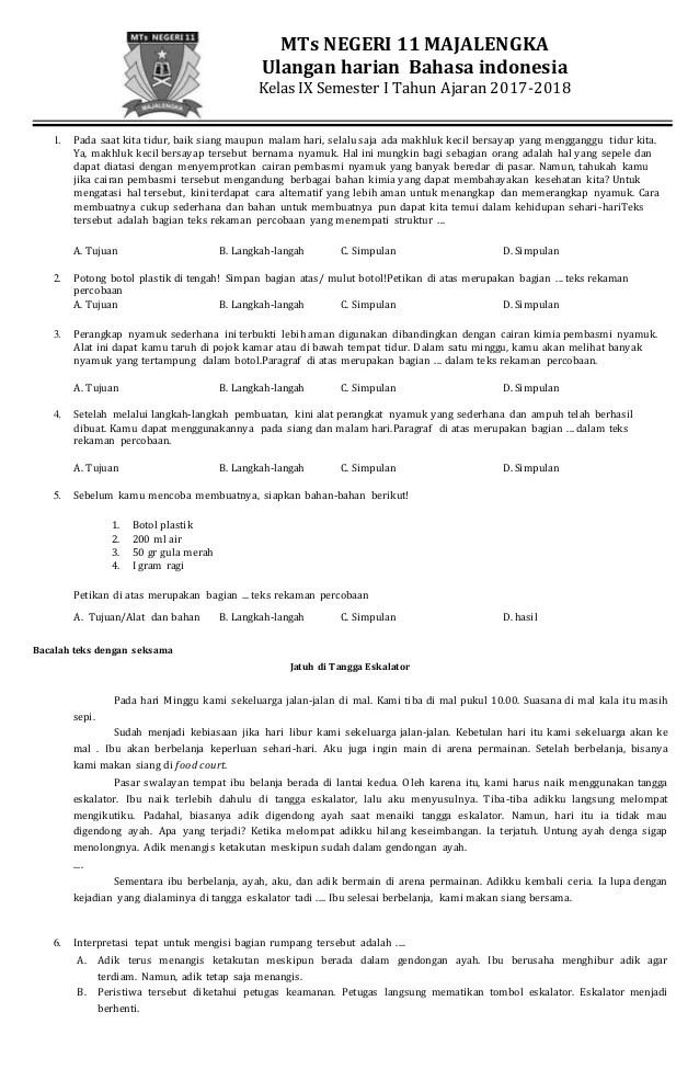 Soal Bahasa Indonesia Kelas 9 Semester 2 Dan Kunci Jawaban Kurikulum 2013 : bahasa, indonesia, kelas, semester, kunci, jawaban, kurikulum, Bahasa, Indonesia, Kelas, Semester, IlmuSosial.id
