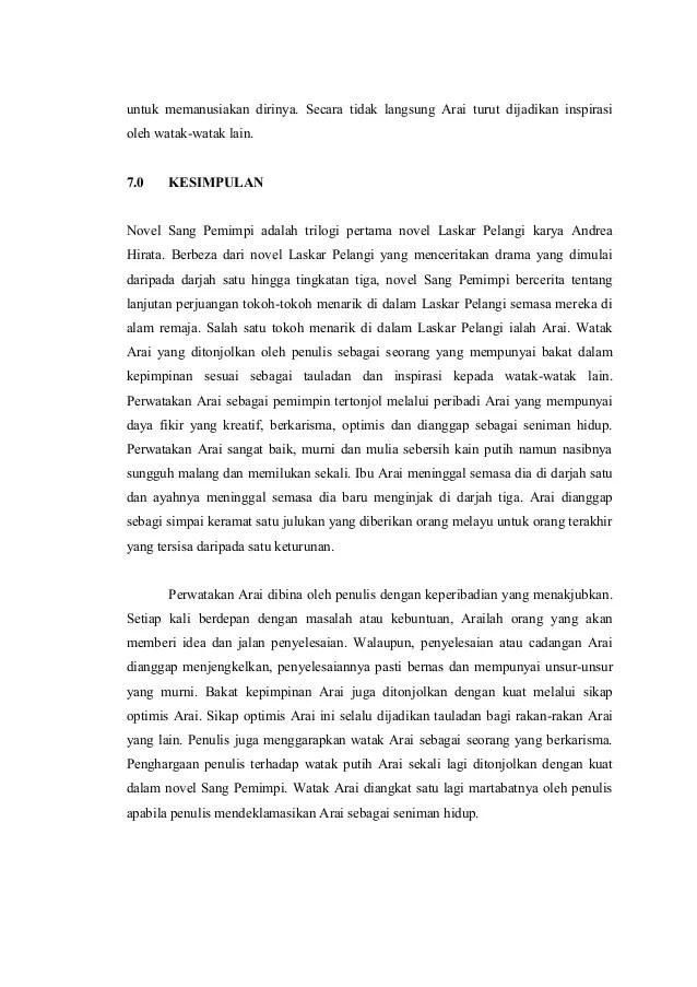 Teks Ulasan Novel Sang Pemimpi : ulasan, novel, pemimpi, Ulasan, Novel,