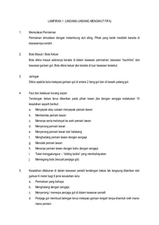 Peraturan Bola Futsal : peraturan, futsal, Undang, Futsal