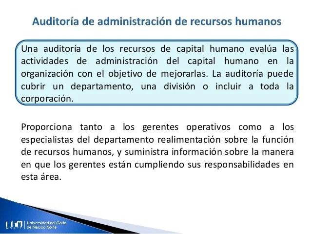 Auditoría De La Administración De Los Recursos Humanos