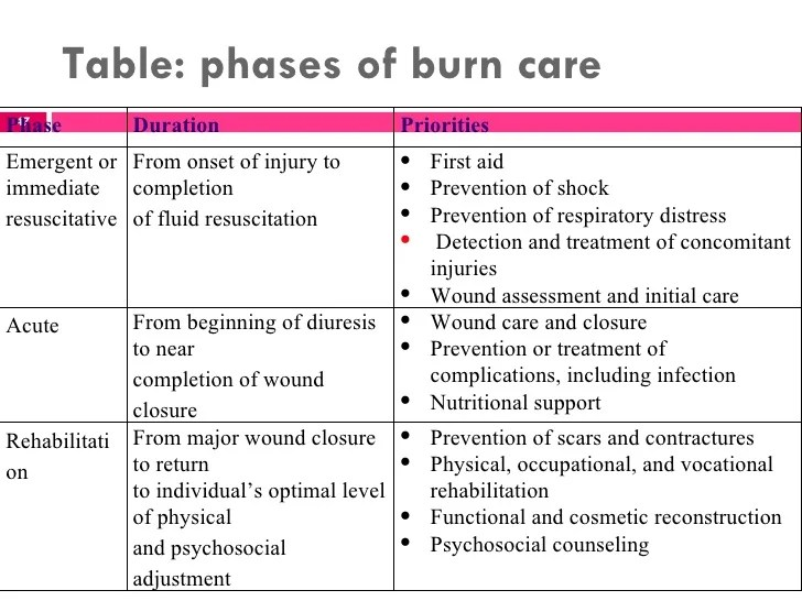 First Degree Burn Diagram