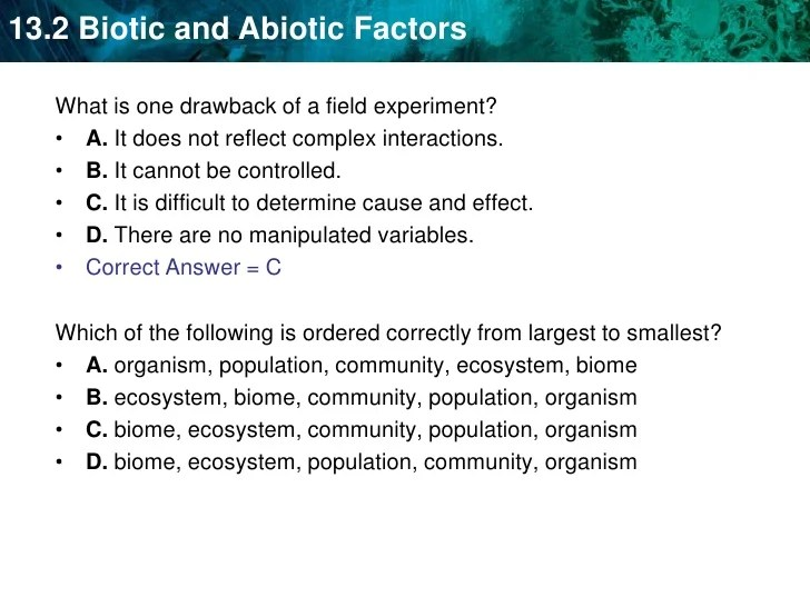Unit 14a Relationships Biotic And Abiotic Factors