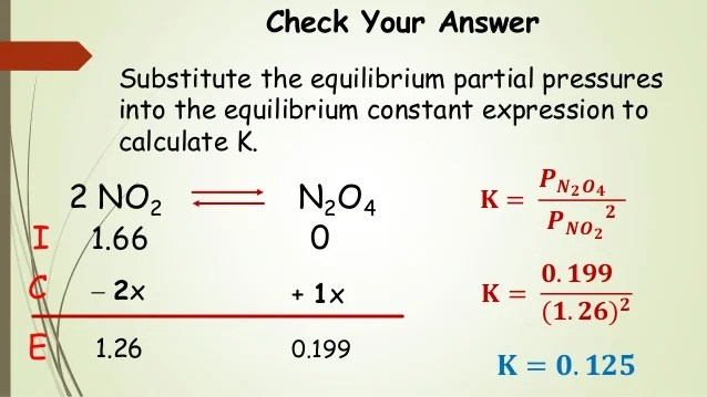 Partial pressure for   is atm also chem chemical equilibrium  ice tables and calculati  rh slideshare