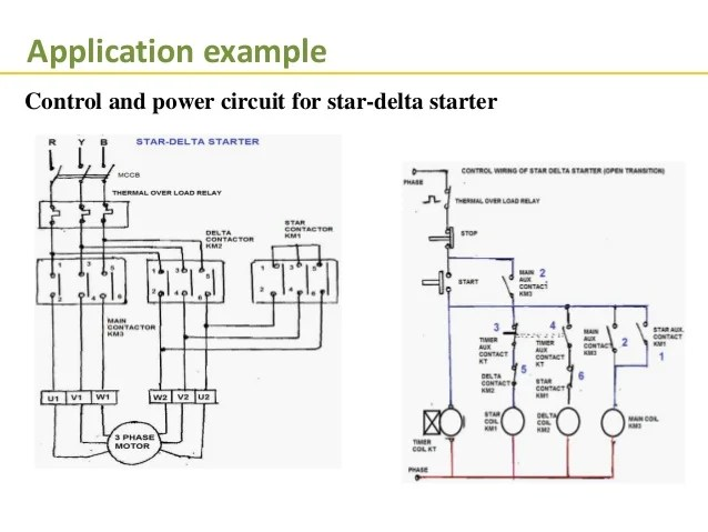 plc star delta starter wiring diagram 2002 chevy impala parts programmble logical control latching 35 application example