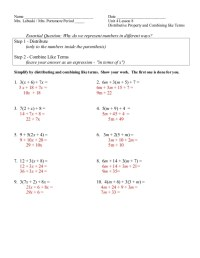 Distributive Property And Combining Like Terms - keyboardcrime