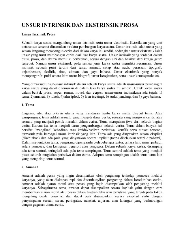Cerpen Beserta Unsur Intrinsik : cerpen, beserta, unsur, intrinsik, Unsur, Intrinsik, Ekstrinsik(1)