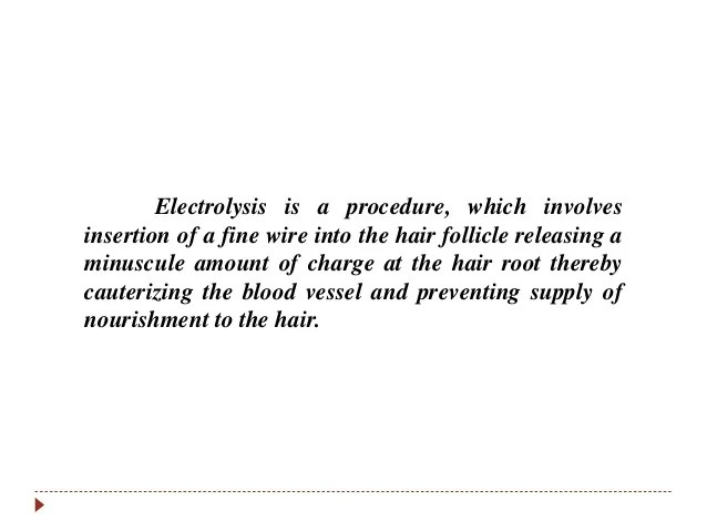 unwanted hair removal electrolysis