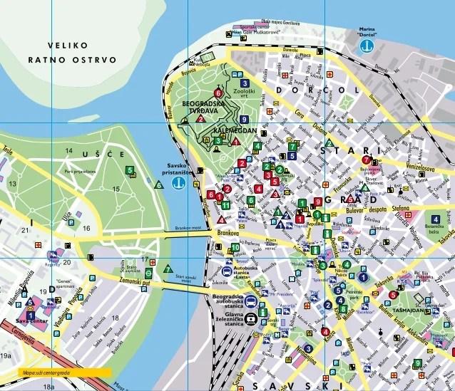 Mapa Beograda Sa Ulicama