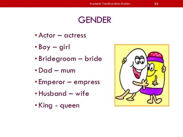 academic transformation module gender also upsr english rh slideshare