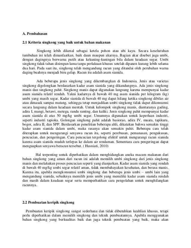 Contoh Proposal Usaha Kecil Keripik Singkong Berbagi Contoh Proposal Cute766