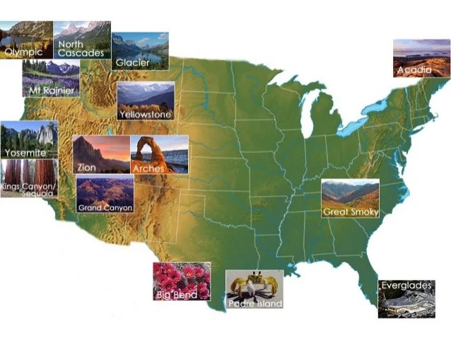 Famous landmarks in the United States of America