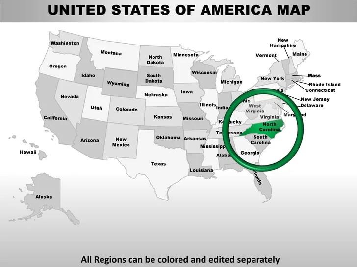 Usa north carolina state powrpoint county editable ppt