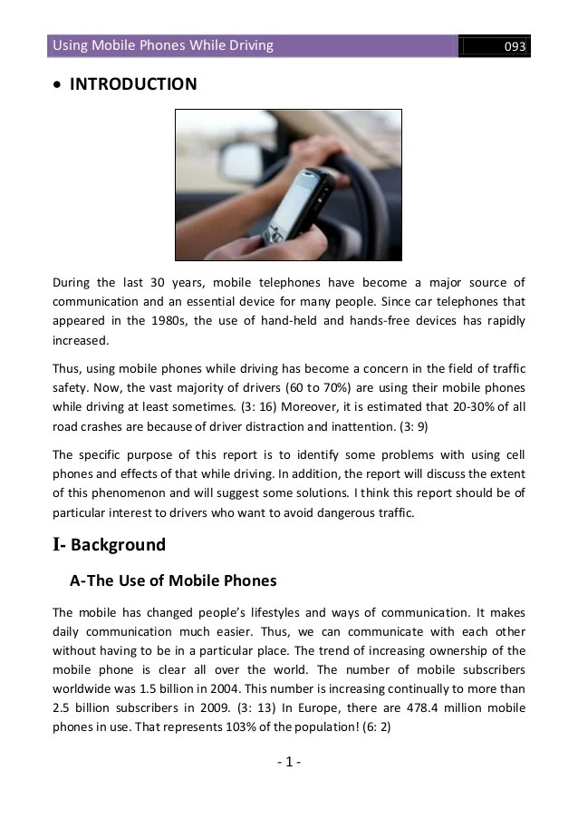 causes and effects of texting while driving essay Texting while driving causes: 1 1,600,000 accidents per year – national safety council 2 330,000 injuries per year – harvard center for risk analysis study.