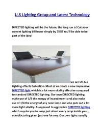 US lighting group and latest teconology
