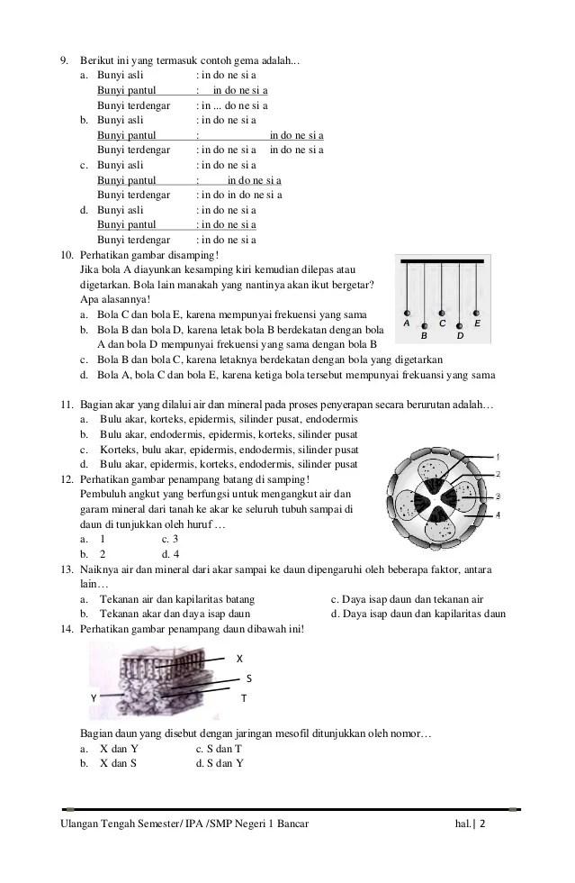 Soal Uts Ipa Kelas 8 Semester 2 Kurikulum 2013 : kelas, semester, kurikulum, Ulangan, Tengah, Semester, (Uts), Kelas, Genap