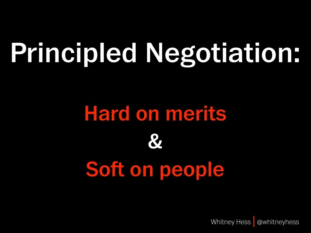 Principled Negotiation Hard On Merits