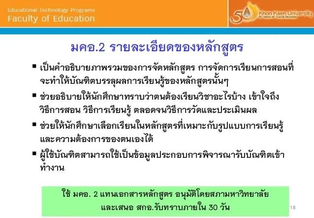 Tqf Thai Qualifications Framework For Higher Education