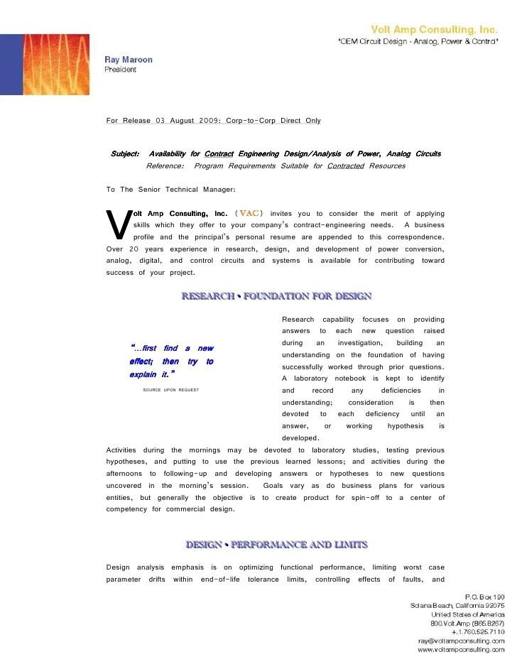 Vac Cover Letter Business Profile Resume Graphics E Letterhead Hand