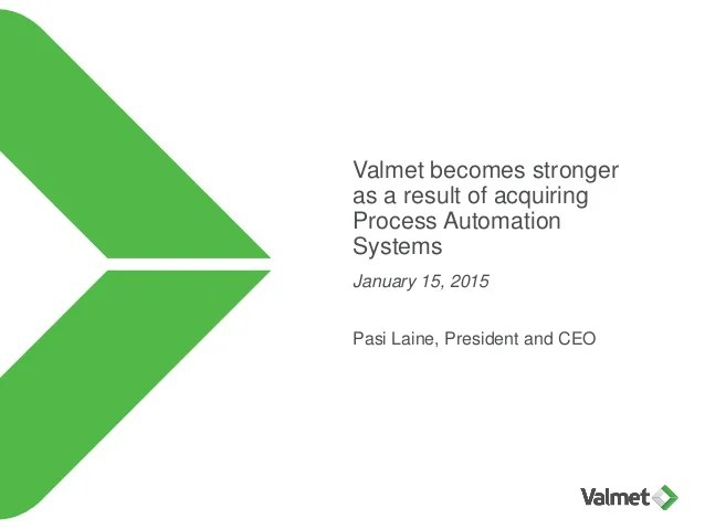 valmet becomes stronger as