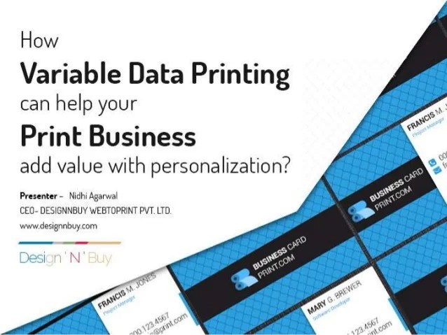 how variable data printing
