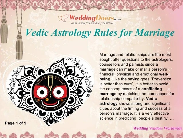 Vedic astrology rules for marriage also rh slideshare