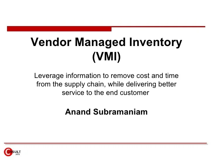 also vendor managed inventory vmi rh slideshare