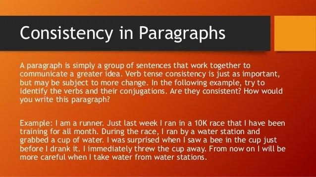 Changes Tense Writing