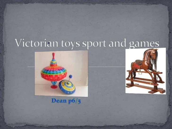 Victorian Toys Sport And Games Dean