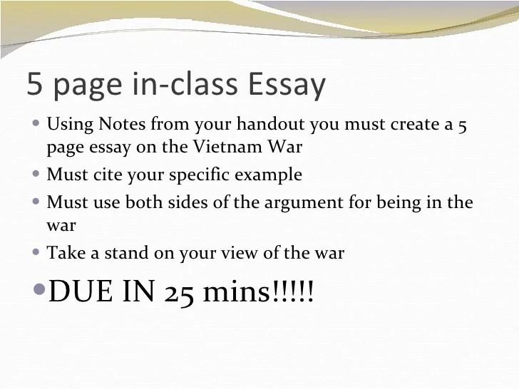 Six Page Essay