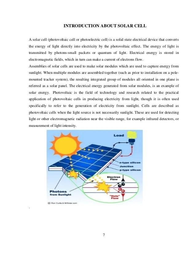Seminar Report On Solar Tree By Vikas