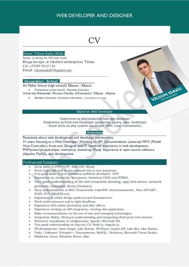 Cv Template Ne Shqip Application Letter Dear