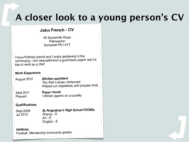cv in english with french qualifications