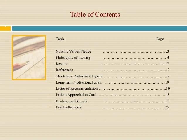 Nursing Portfolio Cover Letter Examples