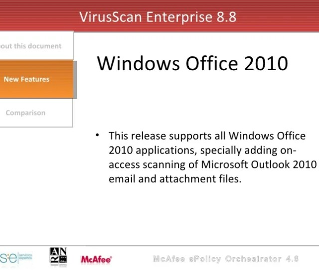 Mcafee Virusscan Enterprise V 8 X X Full All Products And Add