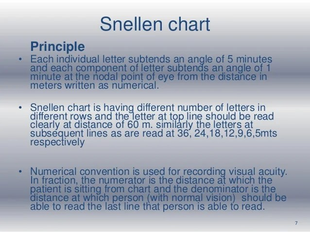 Snellen also vision assessment rh slideshare