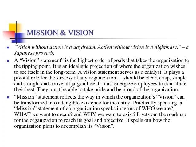VISION STATEMENT EXAMPLES Alisen Berde