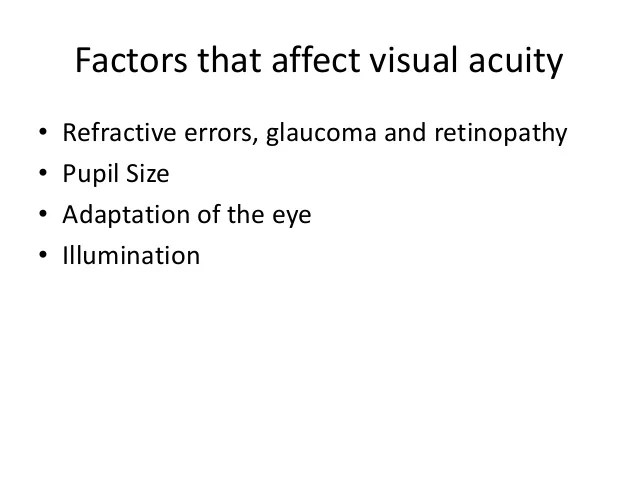 Optical choerence tomography factors that affect visual acuity also rh slideshare