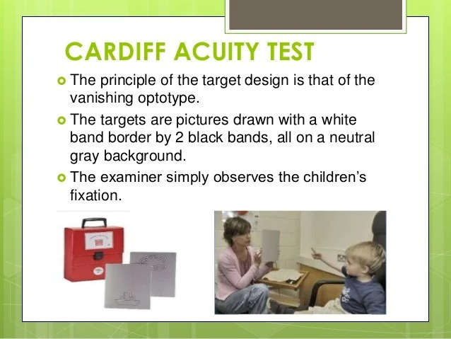 Visual acuity cardiff test also in infants rh slideshare