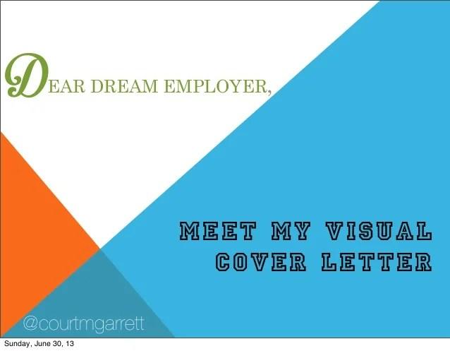 Courtney Garretts Visual Cover Letter