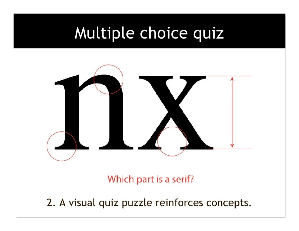 Multiple choice quiz 2. A