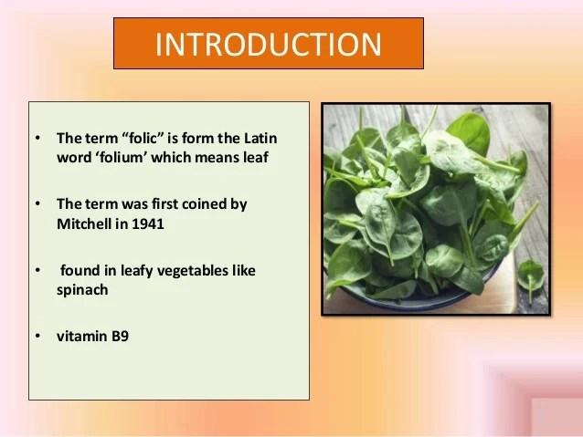 Vitamin b9 / Folic acid