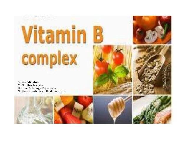 Vitamins  complex aamir ali khan mil biochemistry head of pathology department northwest institute health sciences classification chart also rh slideshare